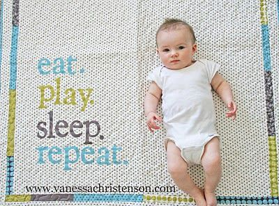 eat. play. sleep. repeat. quilt pattern by v and co. via moda