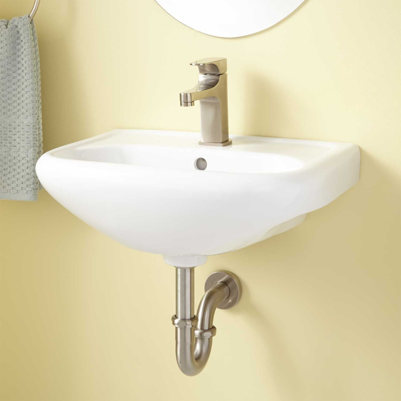 Cayuca Porcelain Wall-Mount Sink | Wall Mounting Ideas | Pinterest ...