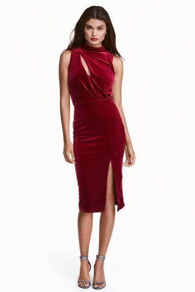 low priced fce3f 375cb Abito senza maniche in velour   Cose da indossare   Dresses ...