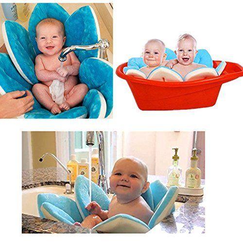 Baby Flower Bathing Tub Hemlock Blooming Sink Bath For Newborn Baby Free Blue Toddler Bath Tub Baby Bath Tub Baby Mat
