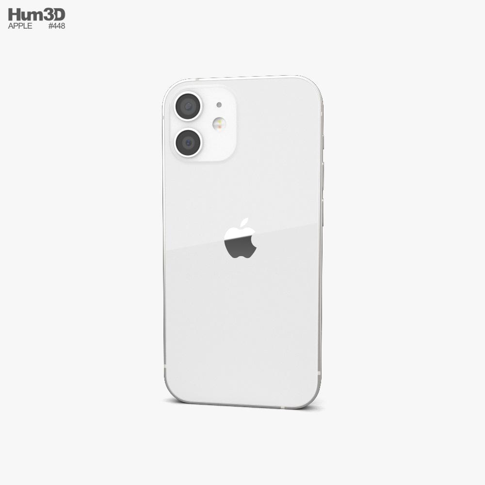 3d Model Of Apple Iphone 12 Mini White Iphone Apple Iphone Apple Phone