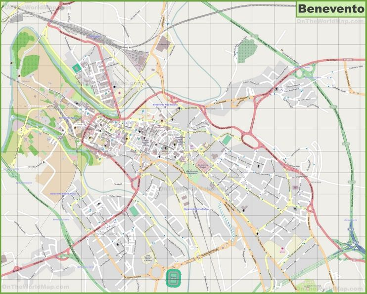 Large detailed map of Benevento Maps Pinterest Italy and City