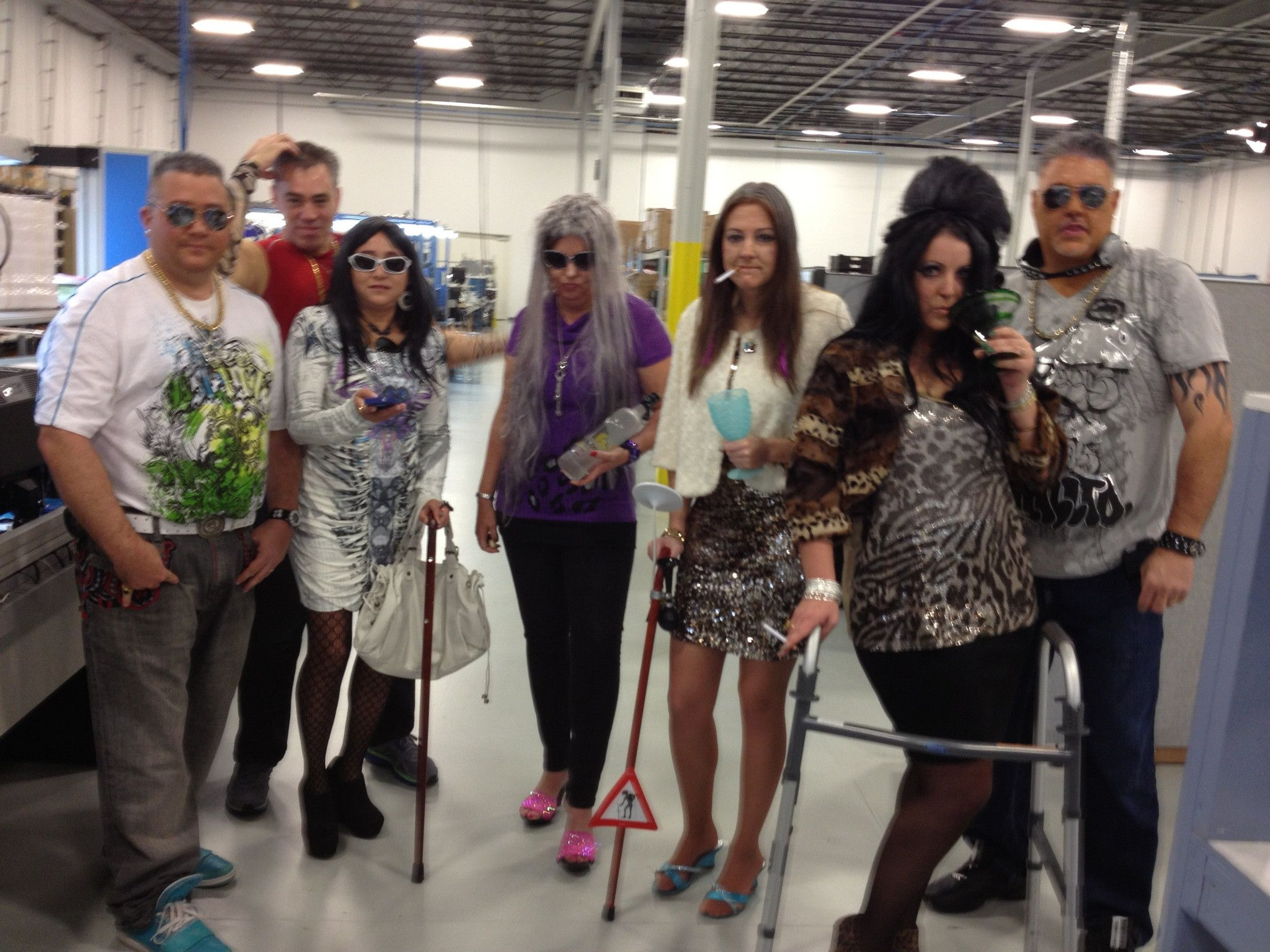halloween ideas for the office. My Mom And Her Office Dressed Up As The Cast Of Jersey Shore 50 Years In Halloween Ideas For C