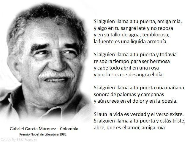 Grandes Escritores Y Pensadores Y Otras Palabras De Autor Gabriel García Márquez Poemas De Garcia Marquez Garcia Marquez Frases