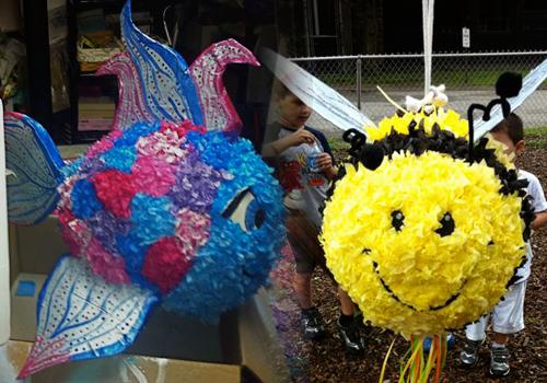 Pinatas pi atas de pez y de abeja para una fiesta de cumplea os con tema me pinterest - Pinatas de cumpleanos ...
