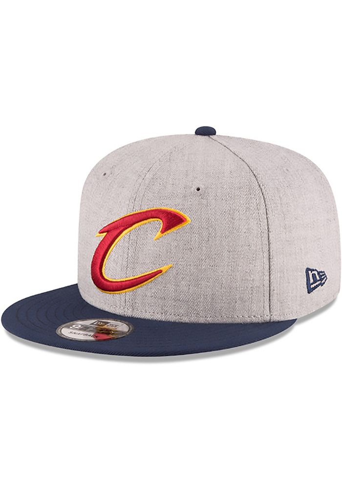 official photos 46451 843e0 New Era Cleveland Cavaliers Grey Heather 9FIFTY Mens Snapback Hat, Grey,  WOOL BLEND, Size OSFM