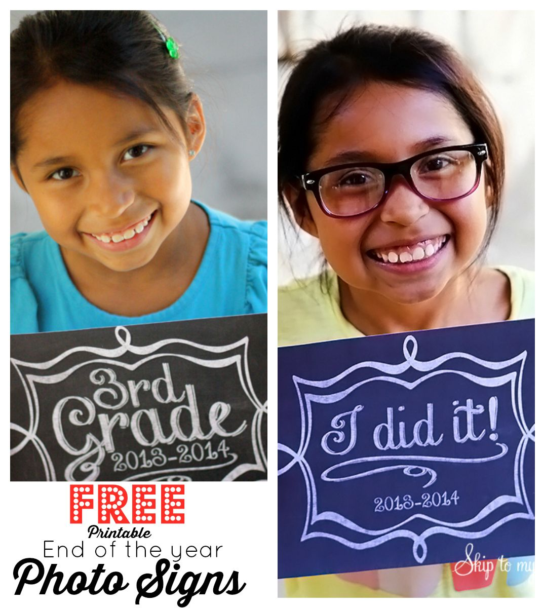 Free Printable Last Day Of School Photo Signs