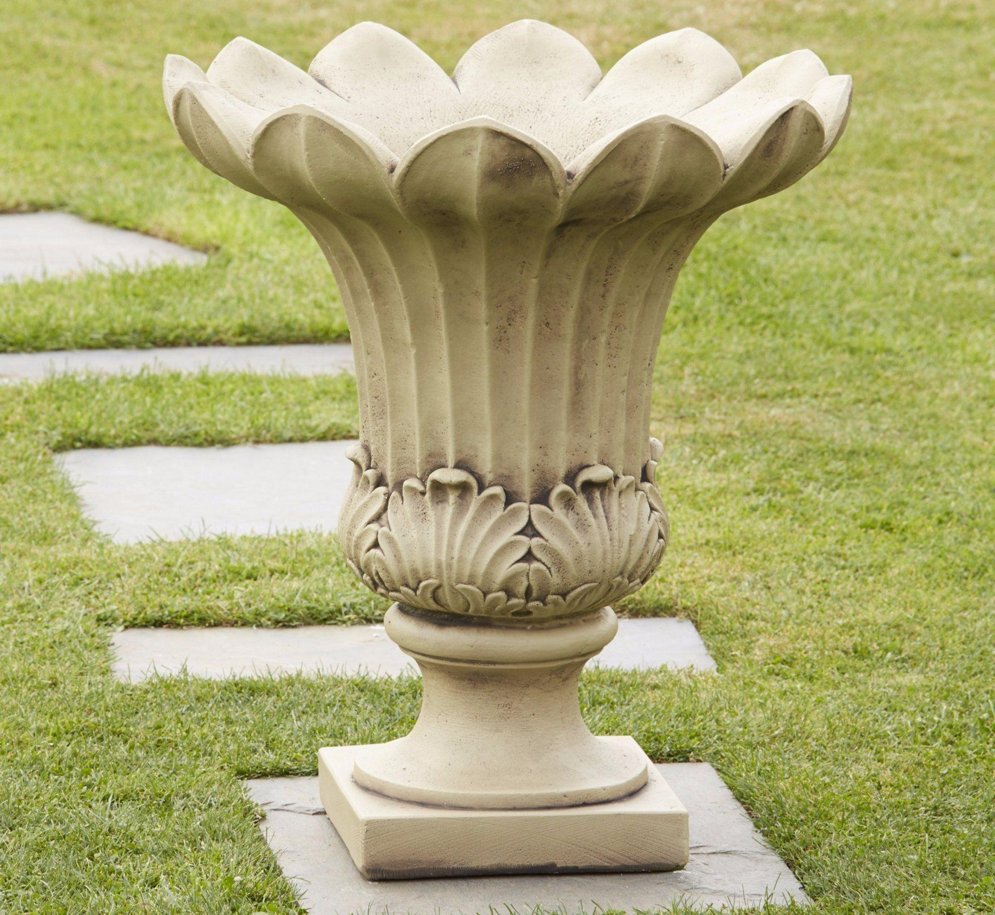 Tulip Vase Stone Planter Tulips in vase, Stone planters