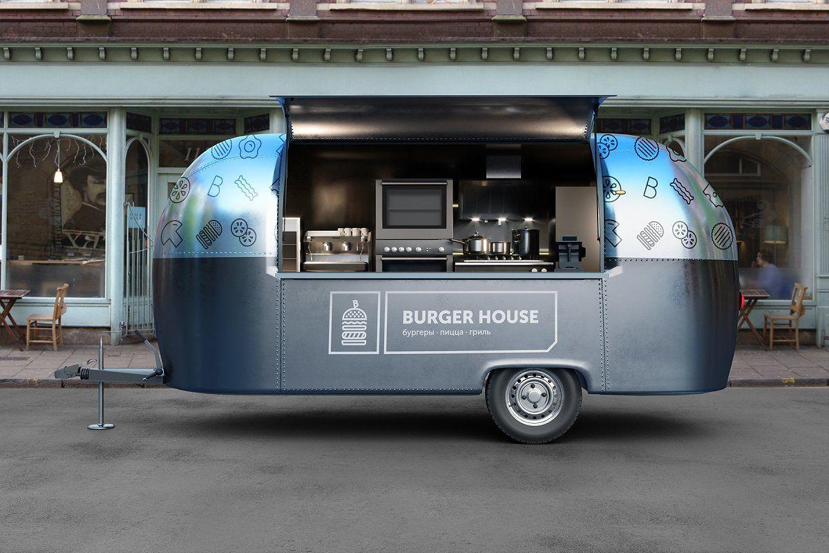 Food Truck Vol 3 Psd Mockup Food Truck Food Truck Design Food Truck Business
