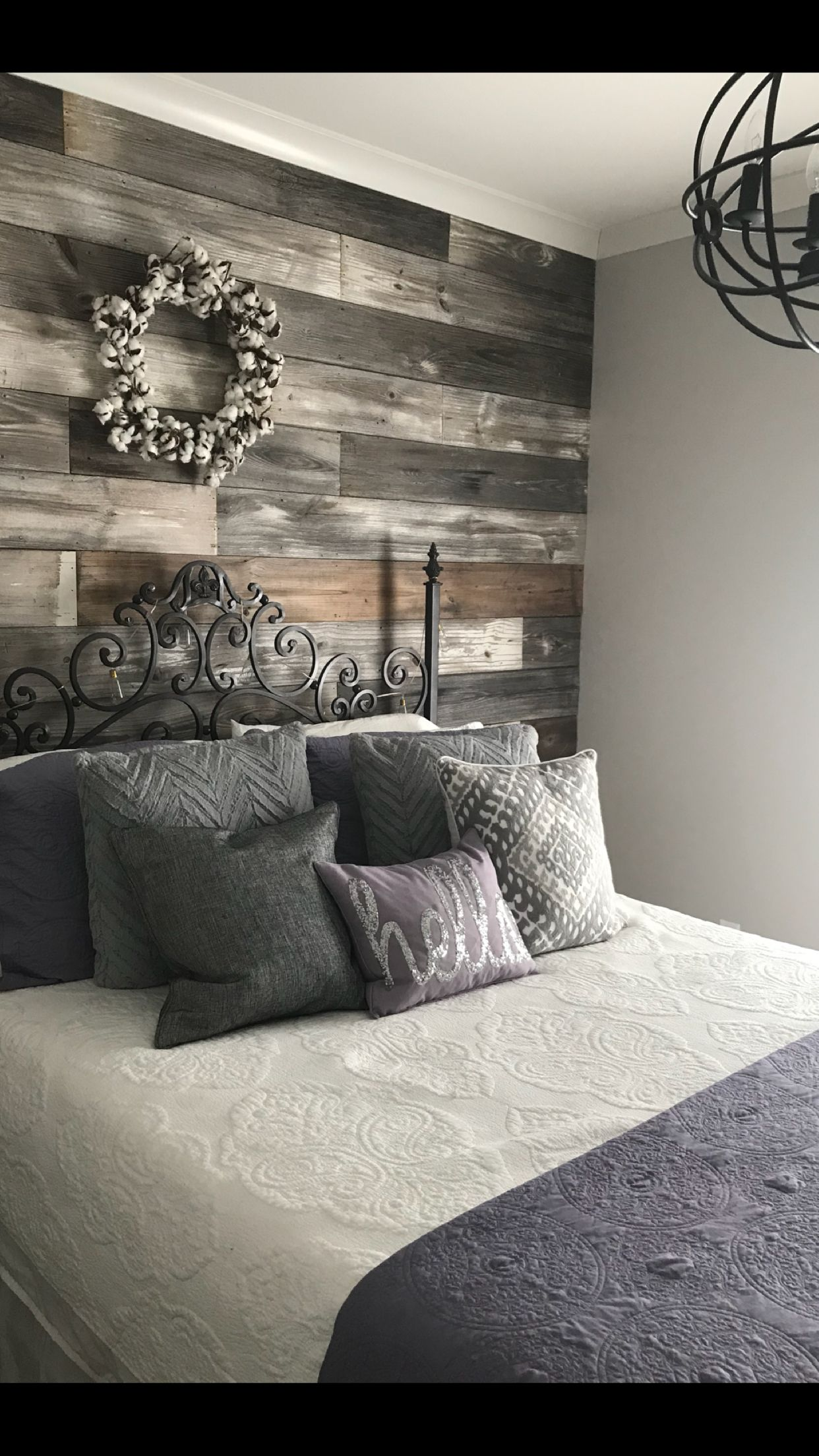 Repurposed Shiplap Accent Wall Remodel Bedroom Home Bedroom