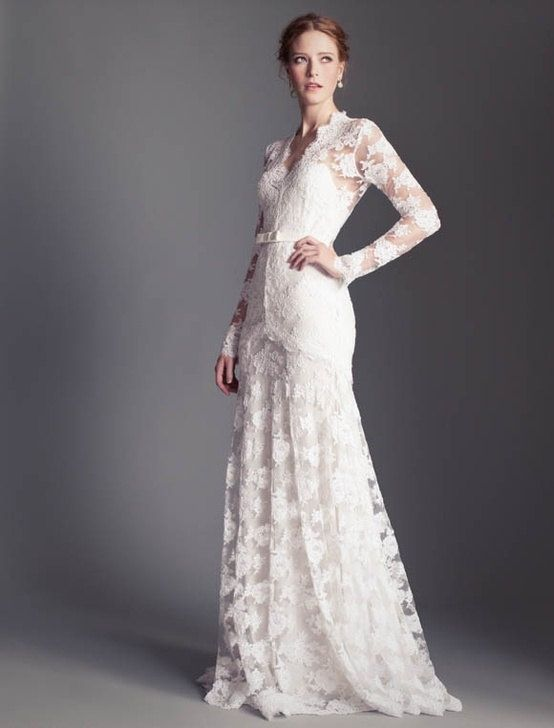 17  images about Wedding/ Gowns on Pinterest - Lace- Illusion ...