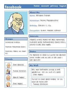Historical figure book character factbook project for Historical biography template