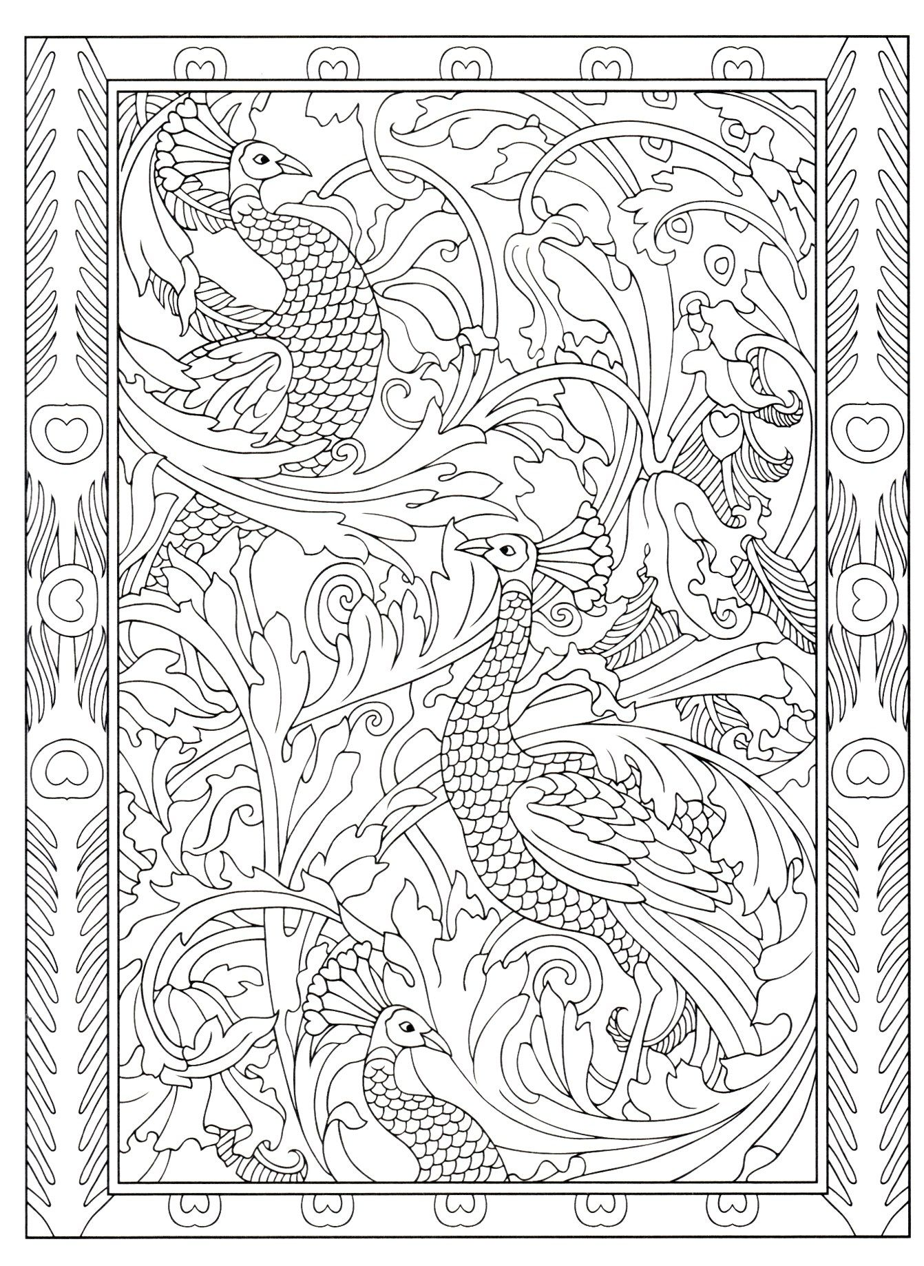 Creative Haven S Peacock Designs Designs Coloring Books Persian Art Painting Detailed Coloring Pages