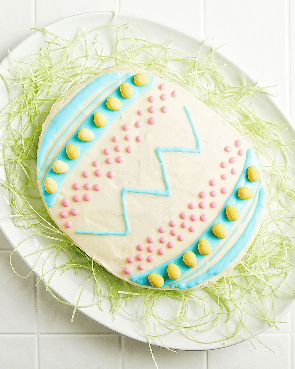 How To Make An Egg Shaped Easter Cake Without An Egg Shaped Cake