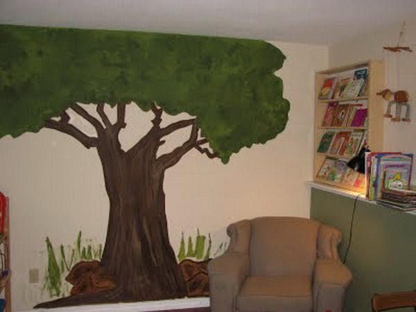 Reading Room Tree Wall Murals