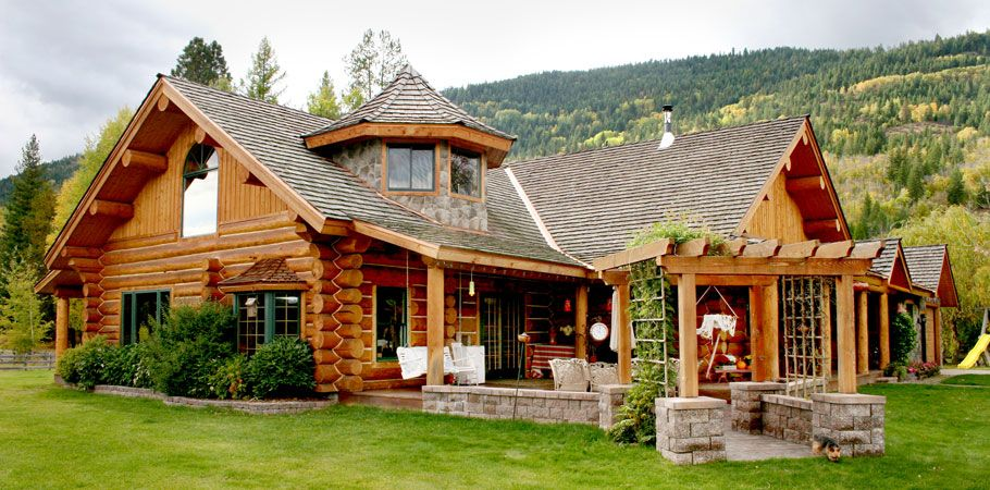 ranch style log cabins