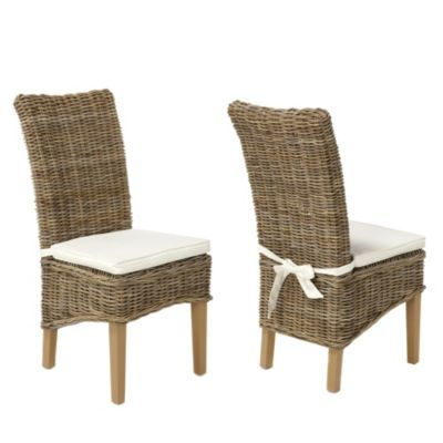 Aldgate pair of rattan dining chairs BHS on sale £225 for two ...