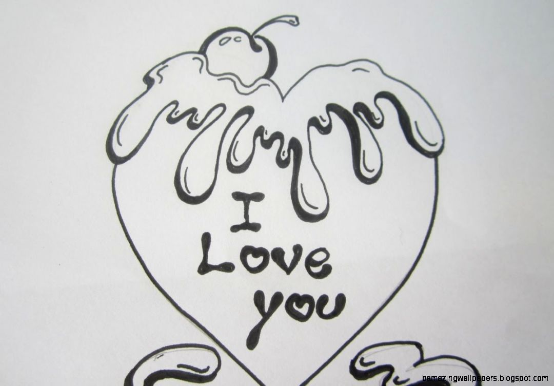 Cute Love Drawings For Him Black And White