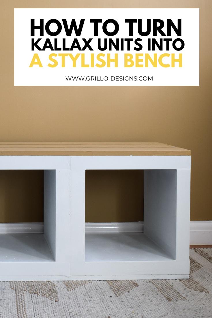 IKEA KALLAX HACK: How to turn shelving units into a Stylish Bench •
