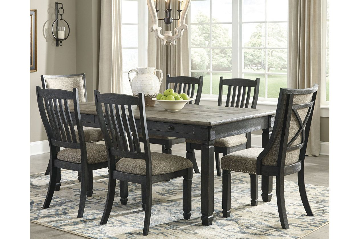 Tyler Creek Dining Table And 6 Chairs Ashley Furniture Homestore In 2021 Rectangular Dining Room Table Dining Room Sets Dining Table