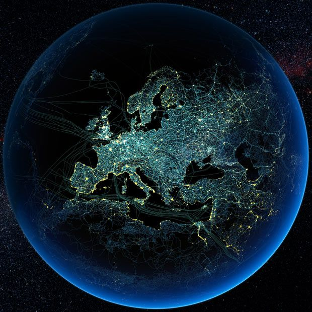 Satellite Images Of Earth At Night Satellite Images Of Earth - Europe satellite map