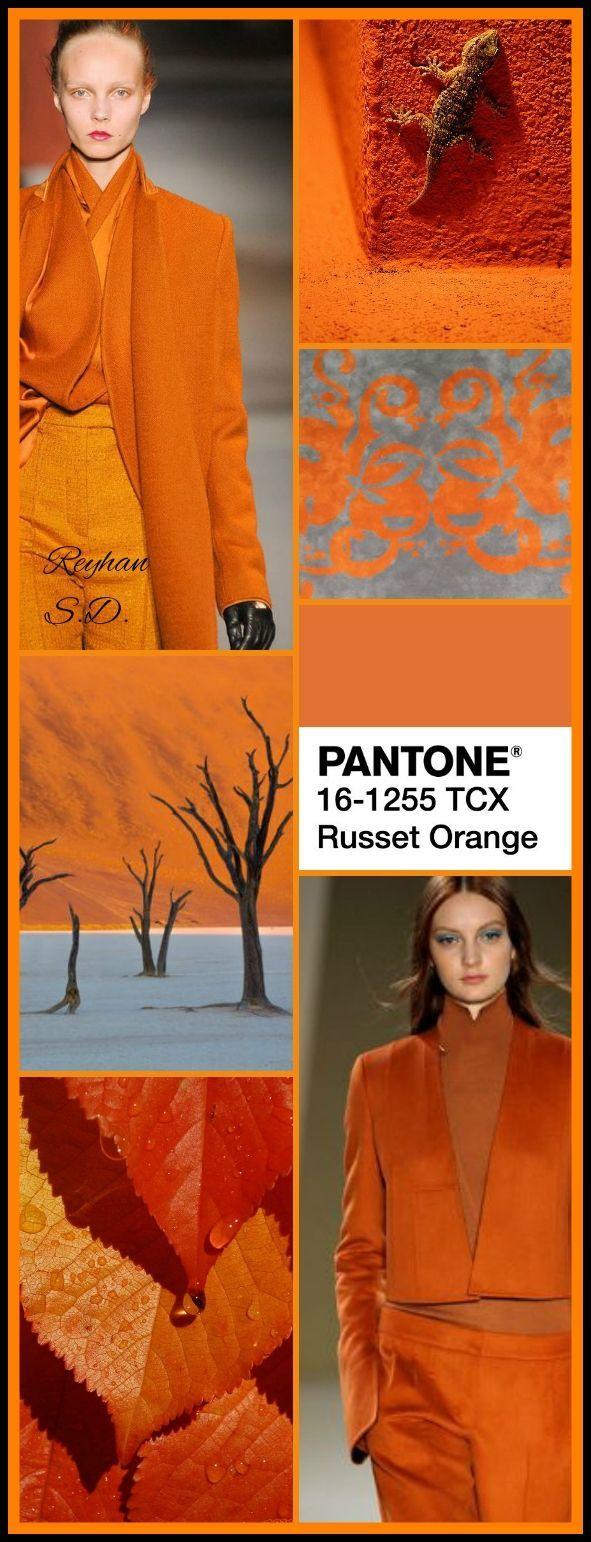 Russet Orange: Pantone Herbst / Winter 2018-2019 von Reyhan S   – Fall Trends