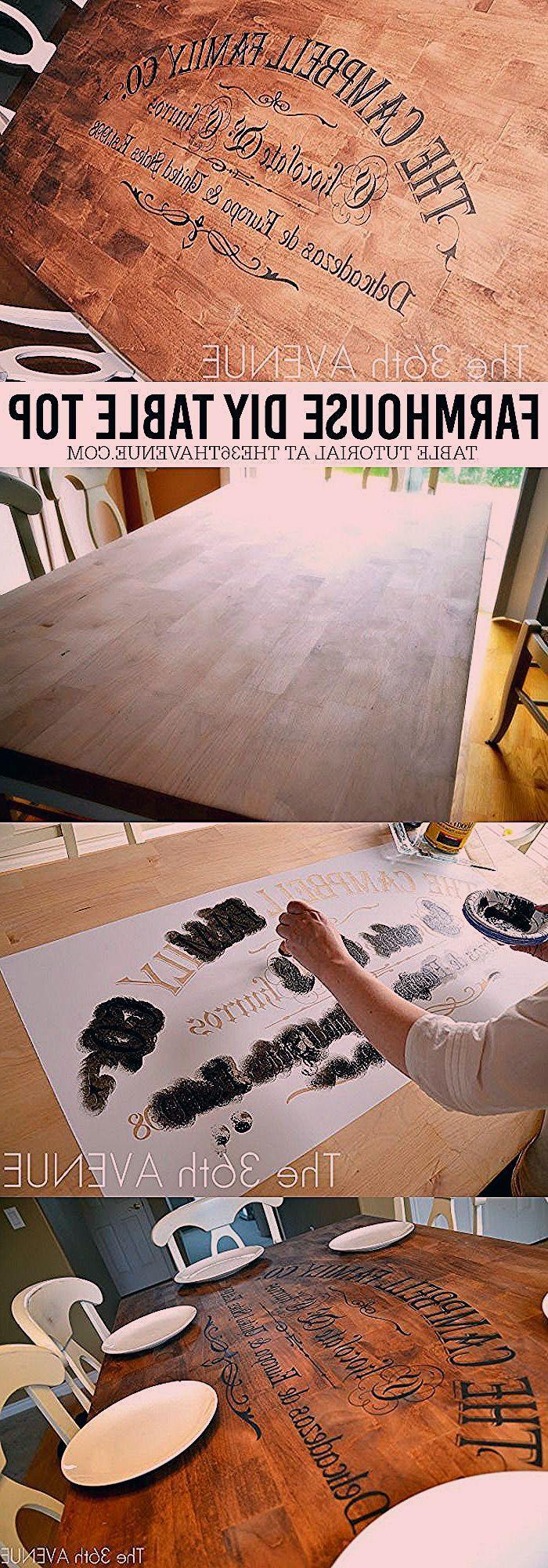 DIY Furniture - Farmhouse Table Makeover