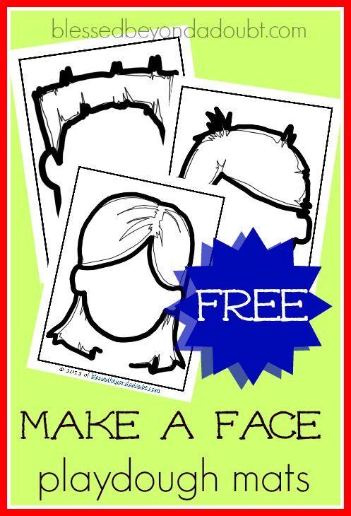 Make A Face Playdough Mats Fun Way To Express Emotions Emotions Preschool Emotions Activities Preschool Playdough