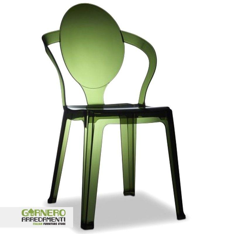 Sedia trasparente Spoon policarbonato ideale per bar. Sedie eleganti ...
