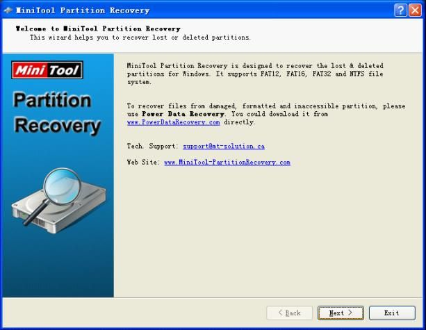 Partition Recovery Software Recovers Hard Drive Partitions