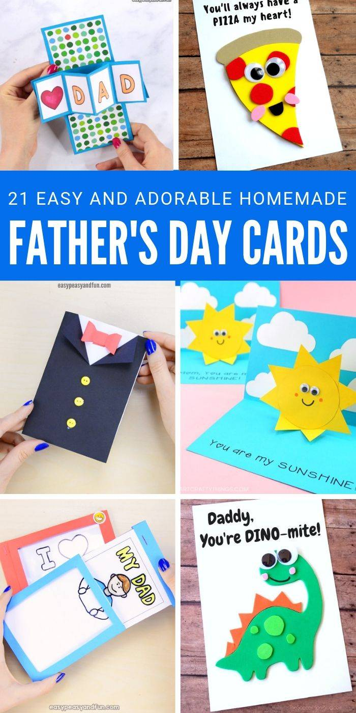 21 Adorable Father S Day Card Ideas You Can Make At Home Passion For Savings Check Out T Homemade Fathers Day Card Fathersday Card Diy Father S Day Cards