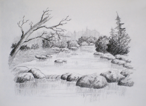intro landscape drawing