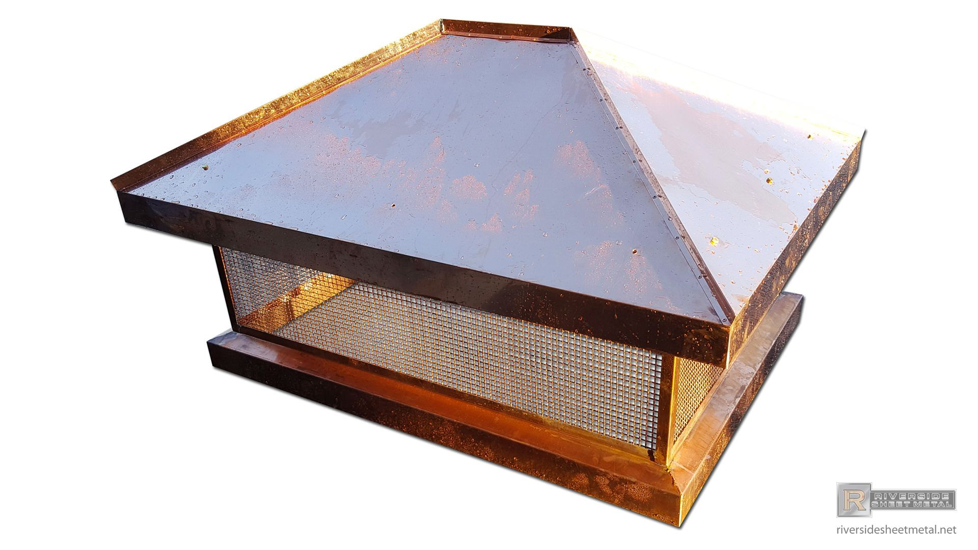 Chimney Top With Standing Seam Panels Ch025 Chimney Cap Wood Burning Fireplace Steel