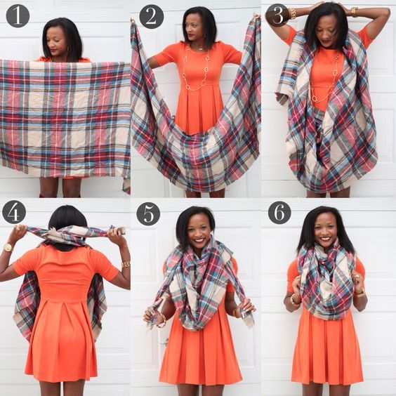 comment porter  mettre  nouer  plier foulard triangle