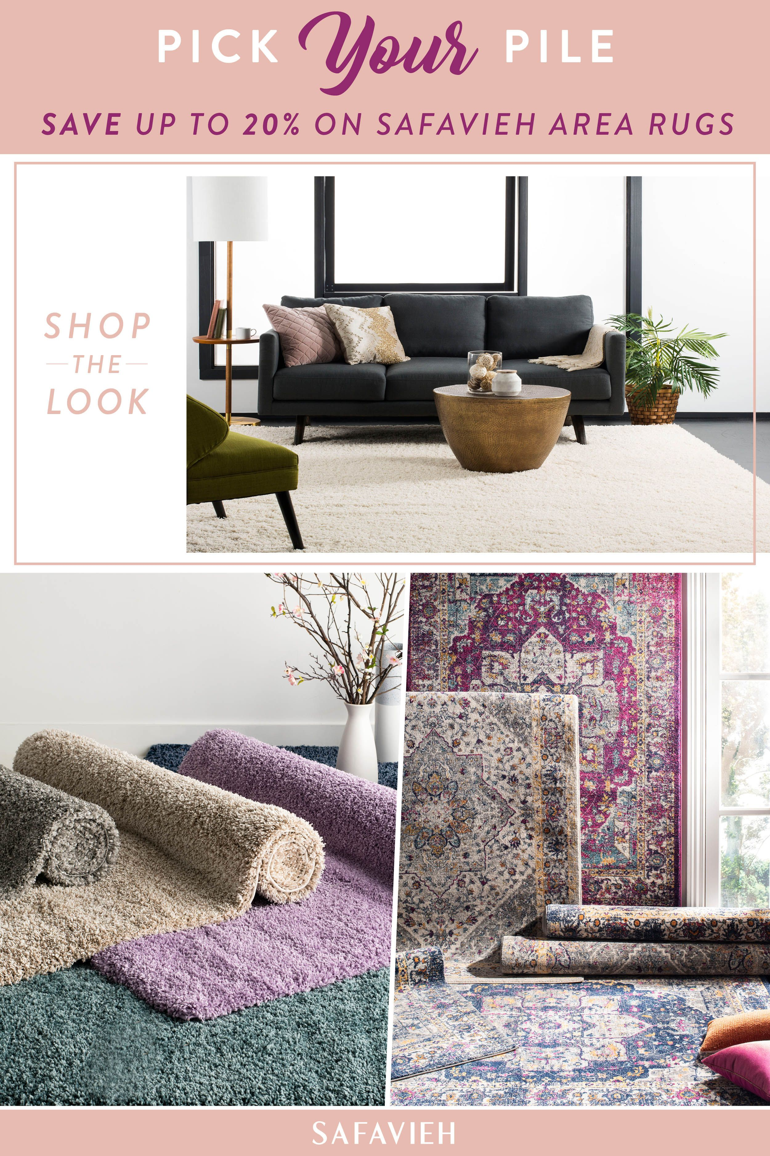 692abf21aad6 Save up to 20% on stylish Safavieh area rugs - Now at The Home Depot!  Indulge your decor in the latest trend-setting designs from Safavieh.