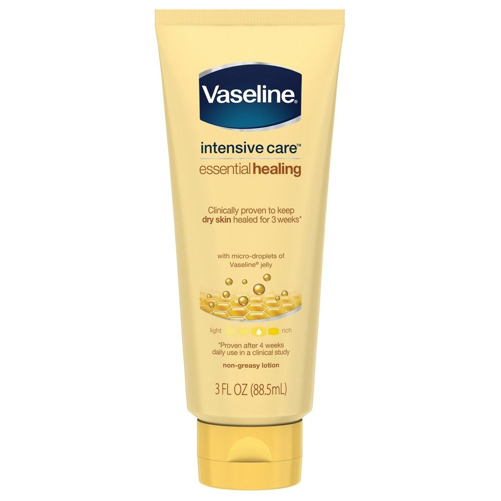 Vaseline Intensive Care Body Lotion Essential Healing 3oz Lotion For Dry Skin Body Lotion Healing Dry Skin