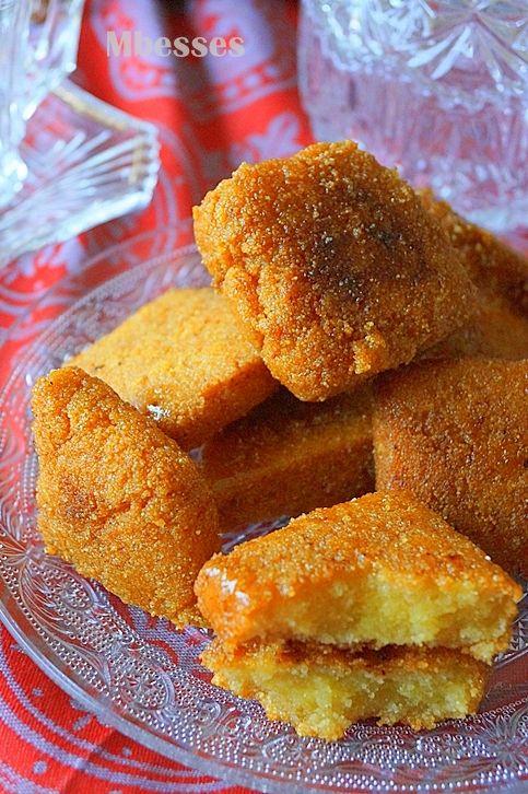 mbesses au miel gâteau algérien à la semoule | gateau | pinterest