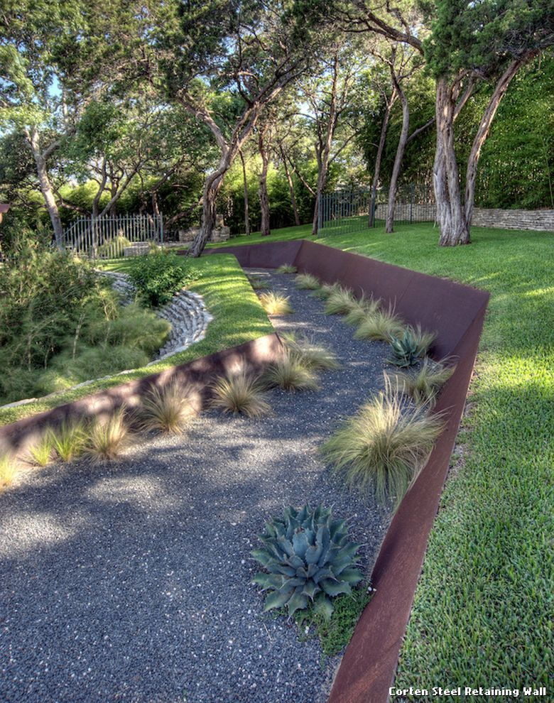 Landscape Design Retaining Wall Ideas front yard landscape designs with before and after pictures retaining wall Corten Steel Retaining Wall By D Crain Design And Construction Uncategorized From Corten Steel
