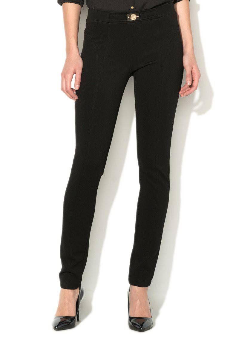 a8c9374760 Pantaloni elastici negri cu striatii - VERSACE JEANS - www.iconly.ro ...