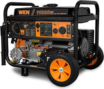 Wen Df1100t 11 000 Watt 120v 240v Dual Fuel Portable Generator With Wheel Kit And Electric St Portable Generator Portable Electric Generator Inverter Generator