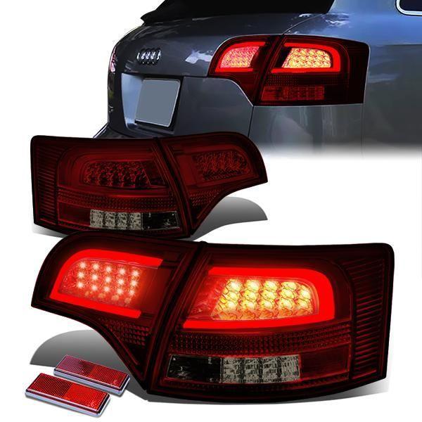 05-08 Audi A4 S4 Wagon Tron Style LED Bar Rear Brake Tail