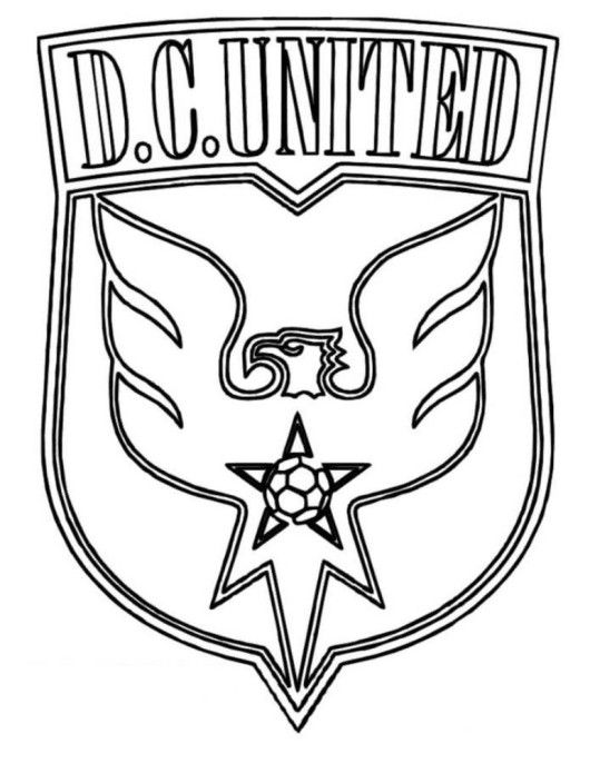 DC United Logo Soccer Coloring Pages | DC United | Pinterest