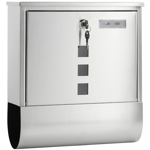 Sol 72 Outdoor Ballone Locking Wall Mounted Letter Box Stainless Steel Mailbox Post Box Lockable Mailbox