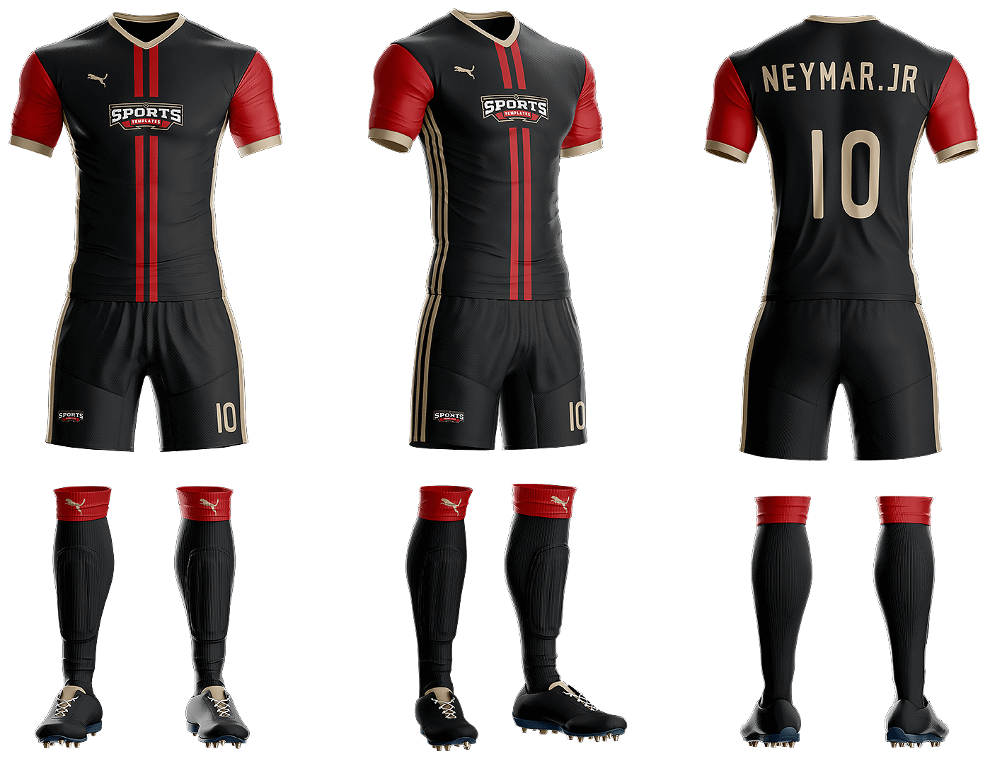 Download Goal Soccer Kit Template Sports Templates Soccer Uniforms Design Soccer Kits Soccer Uniforms