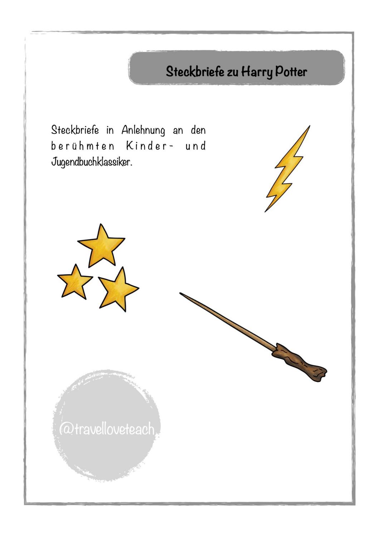 Steckbriefe Harry Potter Unterrichtsmaterial Im Fach Deutsch Steckbrief Harry Potter Steckbrief Buch Klassiker