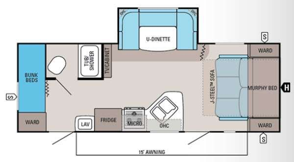 travel trailer bunks floor plans - google search | trailer