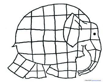 Elmer Writing and Craft   Elefant ausmalbild, Elmar ...