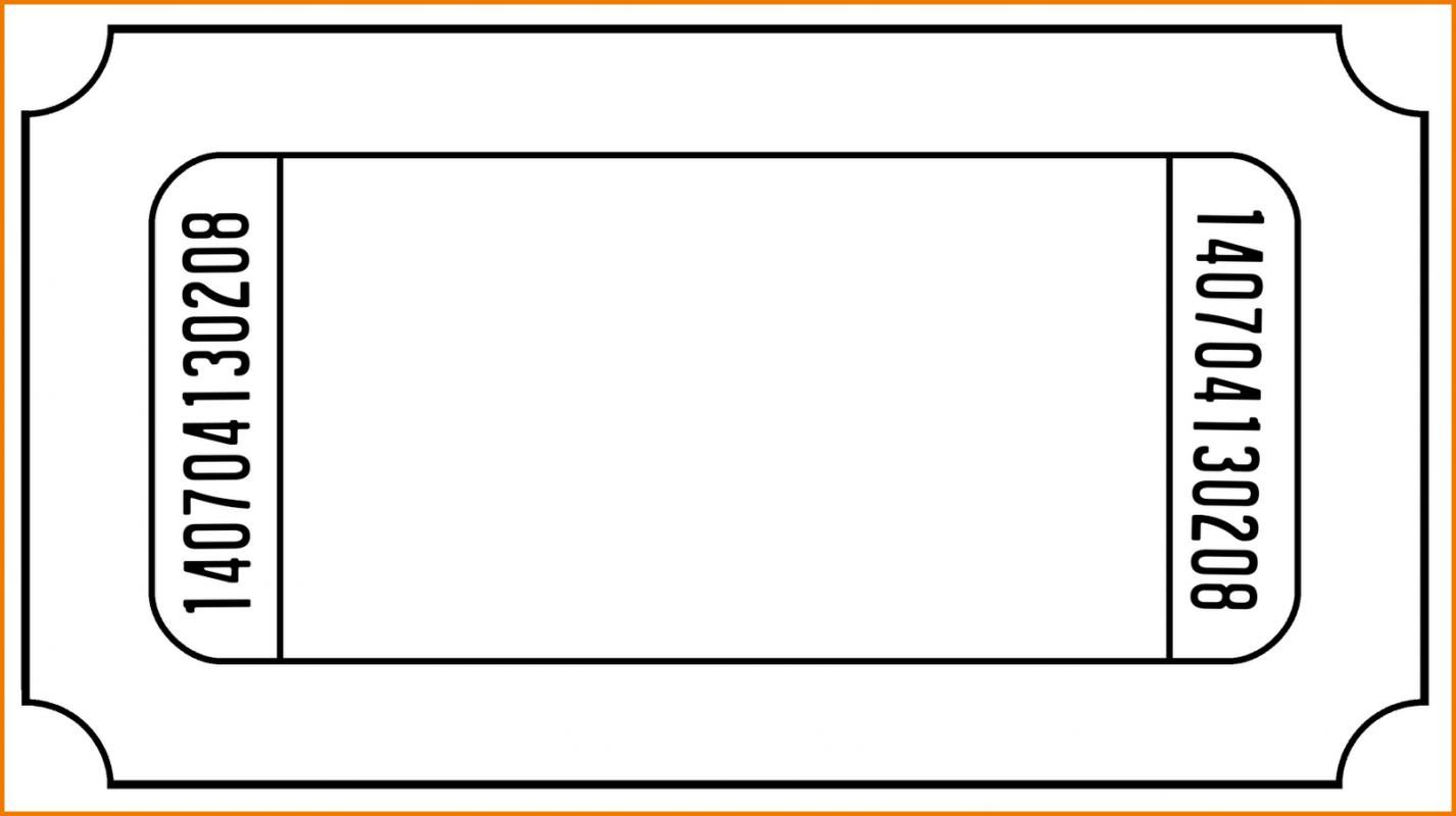 Blank Invitation Templates For Microsoft Word Ticket Template