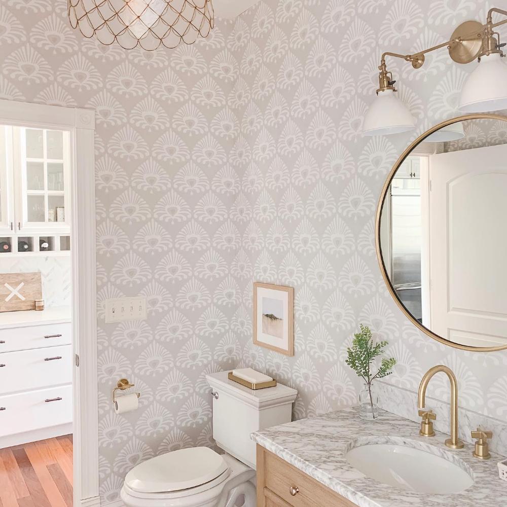 Social Gallery Serenaandlily Serena Lily Powder Room Wallpaper Small Bathroom Wallpaper Powder Room Decor