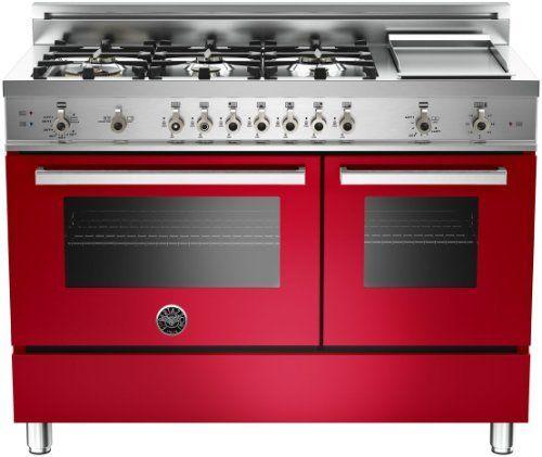 PRO486GGASROLP | Bertazzoni Professional 48 Gas Range, Liquid Propane - Rosso Red by Bertazzoni, http://www.amazon.com/dp/B00C4UTO6K/ref=cm_sw_r_pi_dp_yIR-sb1WE4H5W